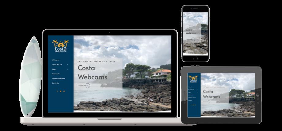Diseño responsive, página web costawebcams