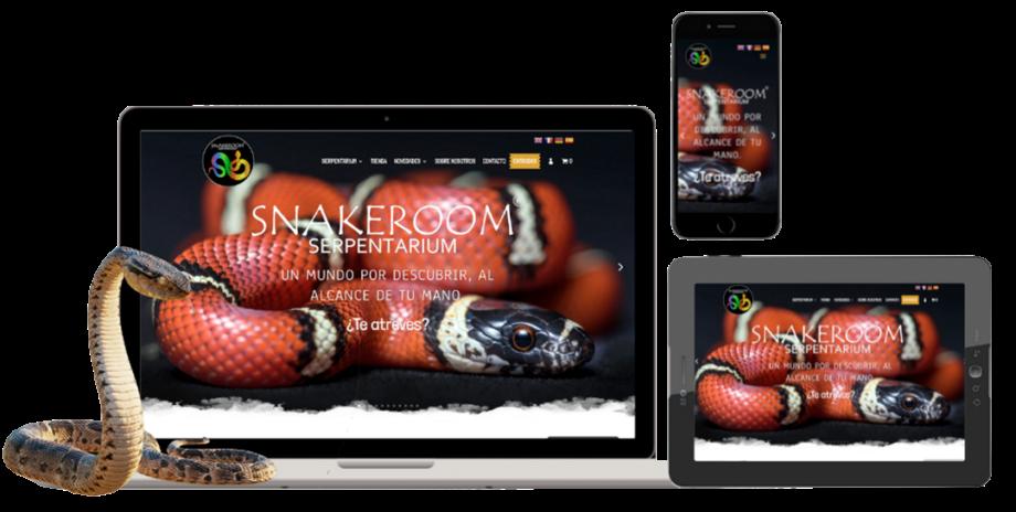Diseño responsive, página web snakeroom serpentarium
